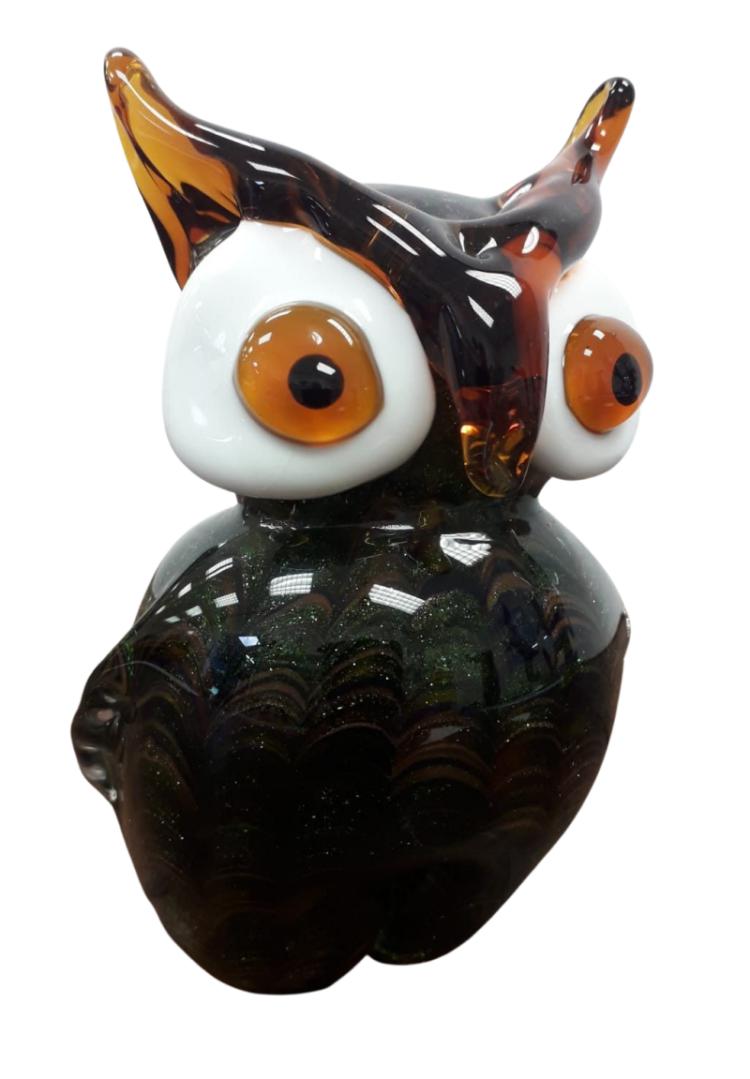 """Glazen beeld """"Long-eared Owl"""""""