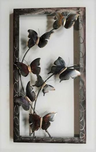 """Metalen wanddecoratie """"Butterflies of Nature"""""""