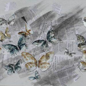 """Schilderij """"Articles and Butterflies"""""""
