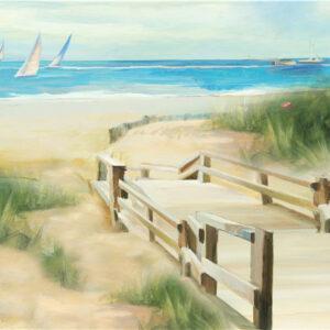 "Schilderij ""Bridge to the Beach"""