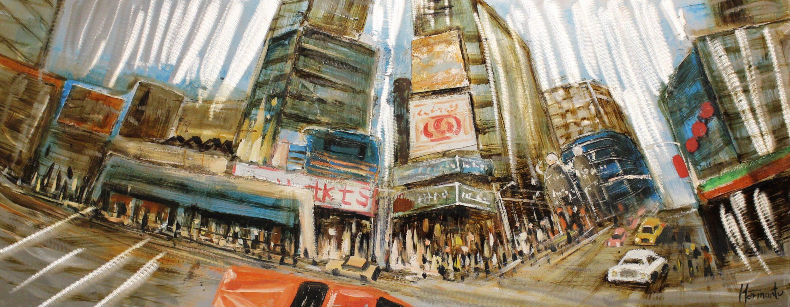 Schilderij Corner in the City Stad Verkeer GS-Y1040A