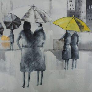 """Schilderij """"Rainy Day for Umbrella's"""""""