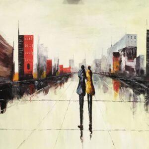 """Schilderij """"Schaduwen in de Stad III"""""""
