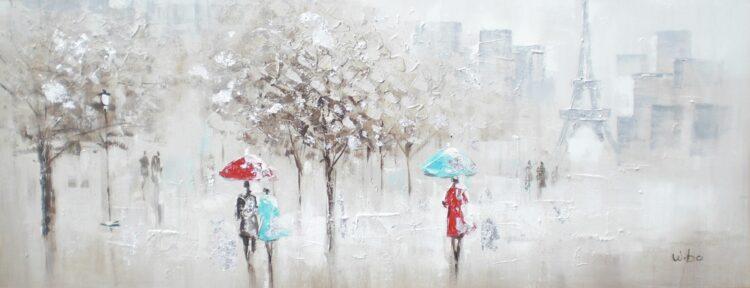 """Schilderij """"Walk in Cold Paris"""""""