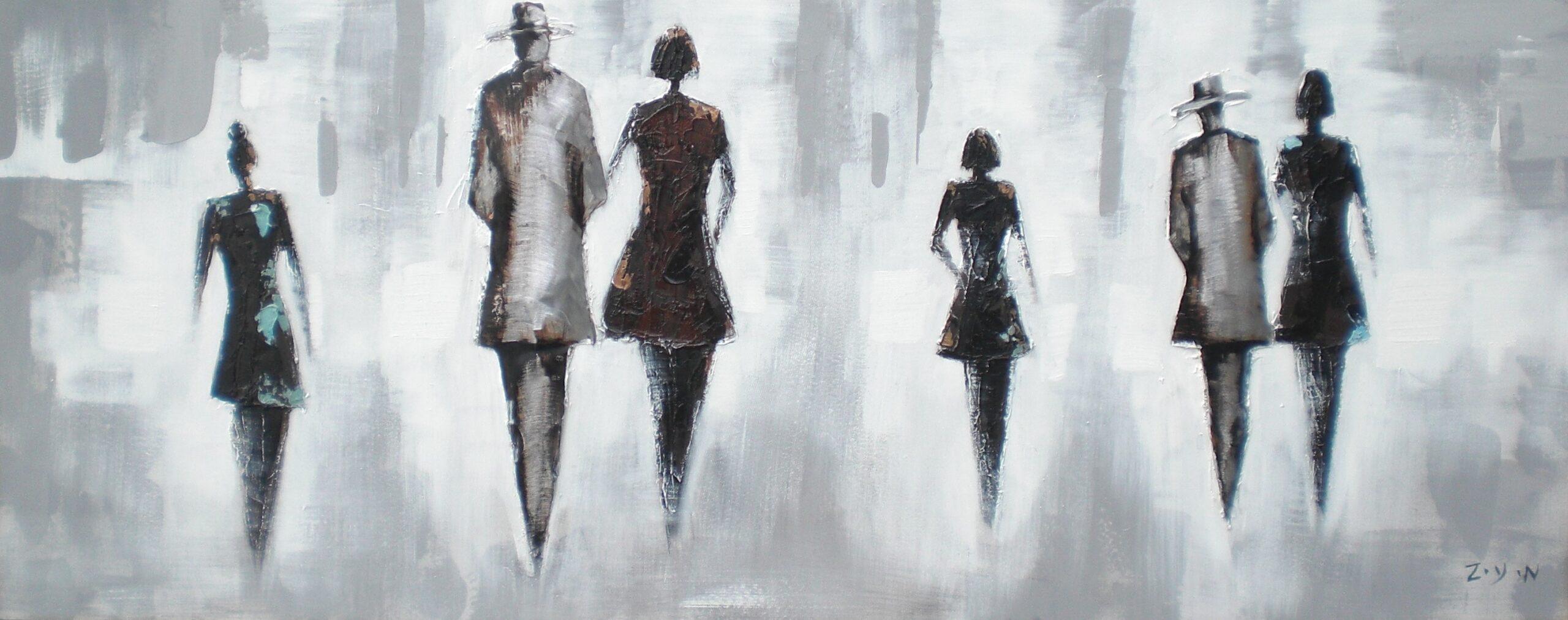 Schilderij Walking through Life Vrouwen Mannen GS-W9114
