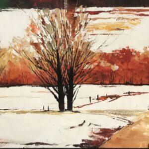 """Schilderij """"Winterlandschap"""""""