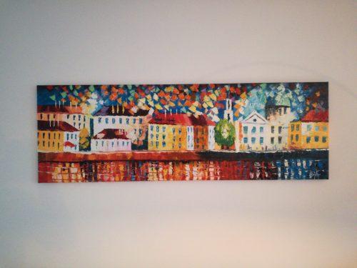 Kleurrijke kunst aan de muur!