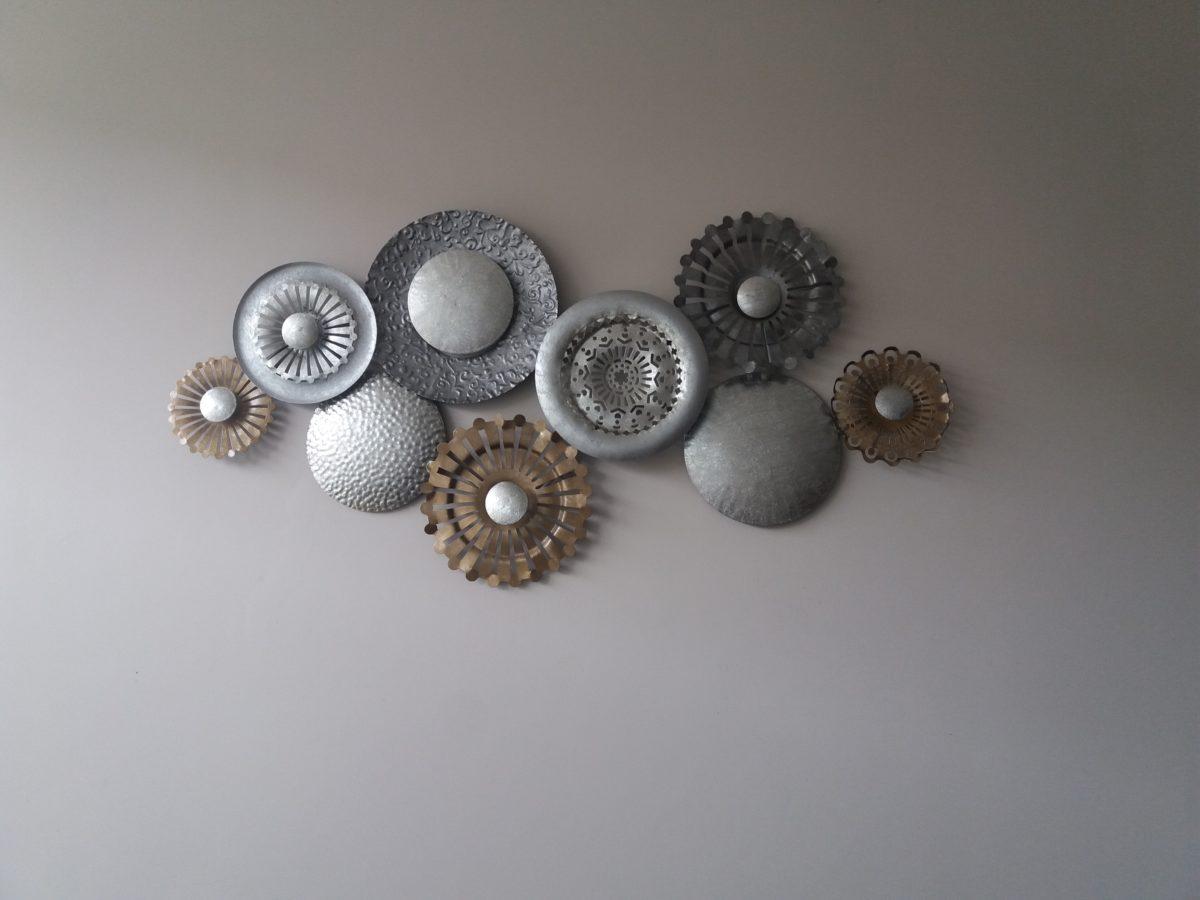 Kunstwerk Nine golden circles