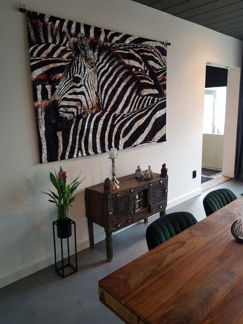 zebra wandkleed