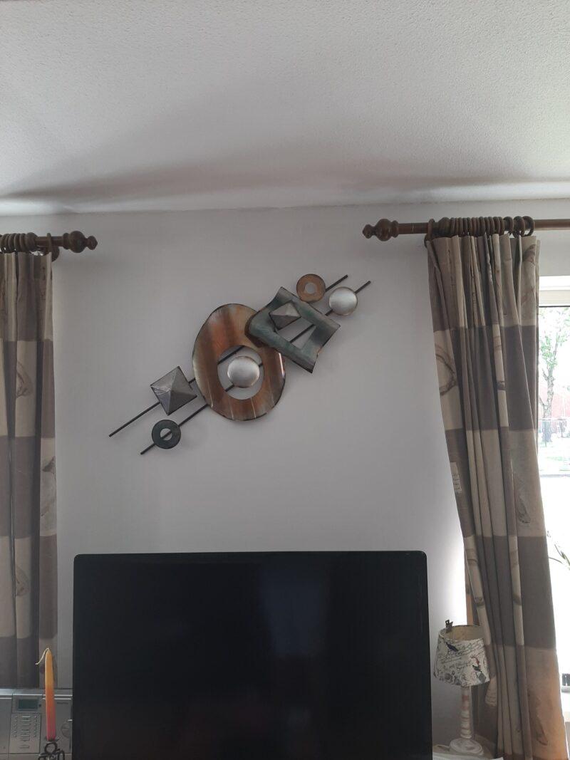Erg blij met mijn kunstwerk aan de muur
