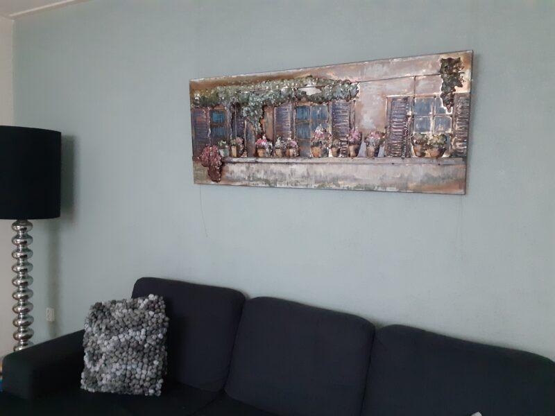Mooi 3D-schilderij aan de muur!