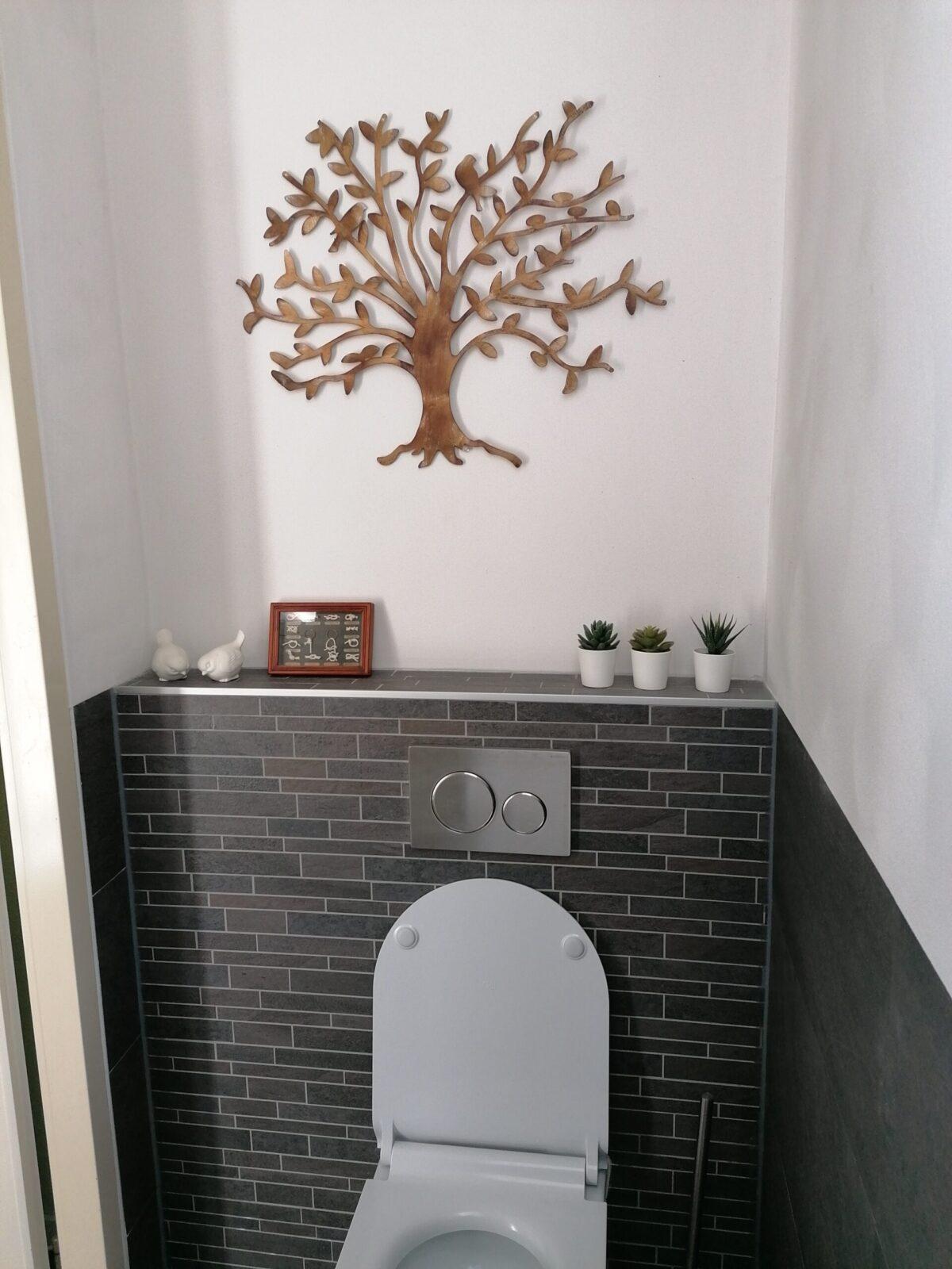 De Tree of friendship hangt heel mooi op ons kleinste kamertje
