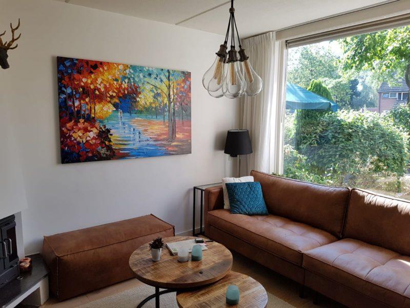 Schilderij maakt onze woonkamer helemaal af